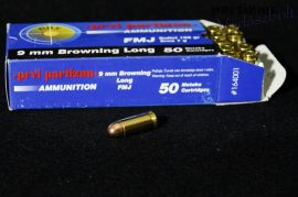 9 mm Browning Long - 108 grs / FMJ ( A-164 )