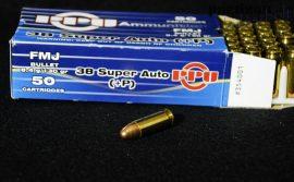 .38 Super Auto +P / 8,4 g - 130 grs / FMJ ( A-354 )