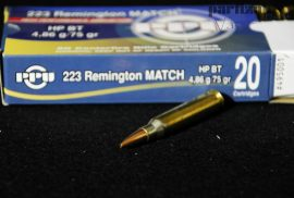 """.223 Rem / 4,86 g - 75 grs / HP BT ( A-495 )*=for 9""""Twist or faster"""