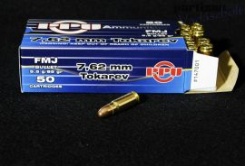7,62 Tokarev / 5,5 g - 85 grs / FMJ ( A-147 )